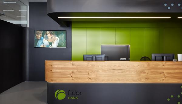 Fidor Bank – Empfangsbereich